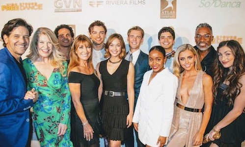 Manuel and cast of High Strung: Free Dance on the red carpet at the LA Premiere